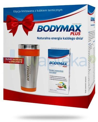 Bodymax Plus wyciąg z żeń-szenia GGE + witaminy 200 tabletek + kubek termiczny