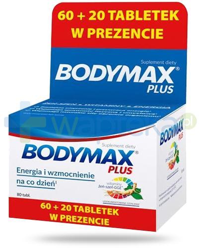 Bodymax Plus wyciąg z żeń-szenia GGE + witaminy 60 tabletek + 20 tabletek