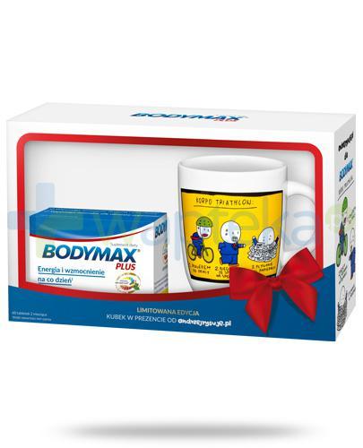 Bodymax Plus wyciąg z żeń-szenia GGE + witaminy 60 tabletek + kubek od andrzejrysuje.pl [ZESTAW]