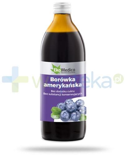 Borówka Amerykańska 100% sok EkaMedica 500 ml