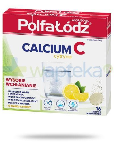 Calcium C Cytryna Polfa Łódź 16 tabletek