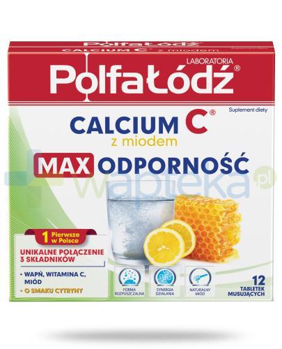 Calcium C z miodem Laboratoria Polfa Łódź max odporność 12 tabletek musujących