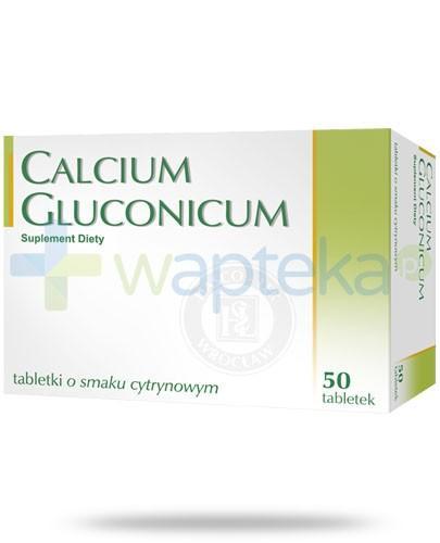 Calcium Gluconicum smak cytrynowy 50 tabletek Hasco-Lek