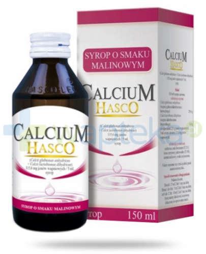 Calcium Hasco syrop o smaku malinowym 150 ml