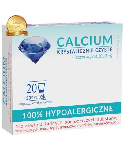 Uniphar Calcium Krystalicznie Czyste 20 saszetek