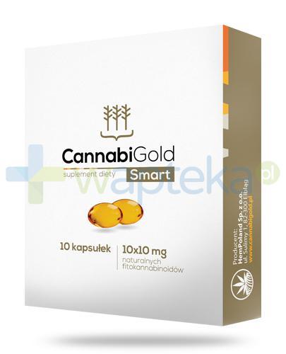 CannabiGold Smart olejek CBD 10mg z konopi włóknistych 10 kapsułek