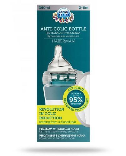 Canpol Babies Anti-Colic by Haberman butelka antykolkowa dla dzieci 0-6m 260 ml [1/098_blu]