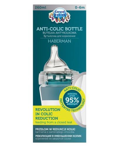 Canpol Babies Anti-Colic by Haberman butelka antykolkowa dla dzieci 0-6m 260 ml [1/098_pin]