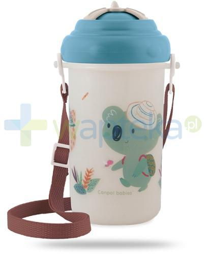 Canpol Babies bidon ze składaną rurką dla dzieci 12m+ 400 ml [4/107_blu]