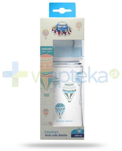 Canpol Babies EasyStart In The Clouds butelka szerokootworowa antykolkowa dla dzieci 3m+ 240 ml [35/225_blu]
