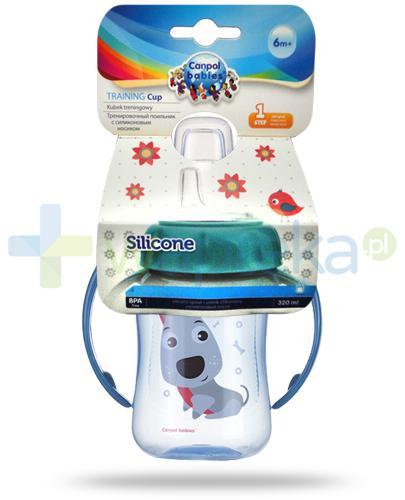 Canpol Cute Animals kubek treningowy z silikonowym ustnikiem i uchwytami 320 ml [56/512]