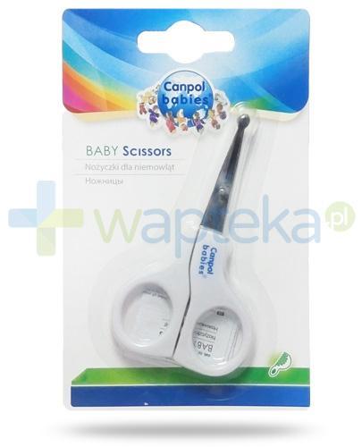 Canpol nożyczki dla niemowląt bez osłonki 1 sztuka [2/810]