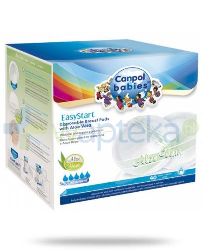 Canpol Babies krążki laktacyjne EasyStart z aloesem 40 sztuk [19/608]