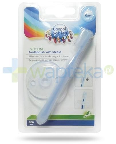 Canpol silikonowa szczoteczka do zębów z ogranicznikiem 1 sztuka [10/500]