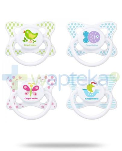 Canpol Babies smoczek silikonowy symetryczny wakacje 6-18 m-cy 1 sztuka [23/461]