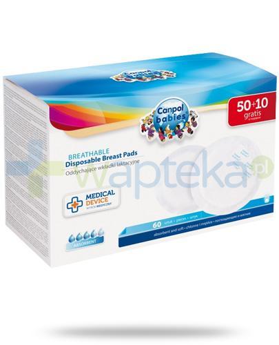 Canpol Standard oddychające wkładki laktacyjne 60 sztuk [1/652med]