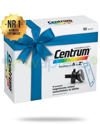 Centrum AZ Multiefekt witaminy i minerały 100 tabletek + magnetyczny uchwyt samochodowy na telefon [ZESTAW]