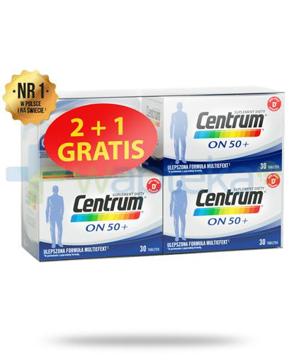 Centrum On 50+ Multiefekt witaminy i minerały dla mężczyzn 3x 30 tabletek [UMF] [ZESTAW]