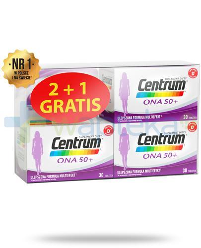 Centrum Ona 50+ Multiefekt witaminy i minerały dla kobiet 3x 30 tabletek [UMF]