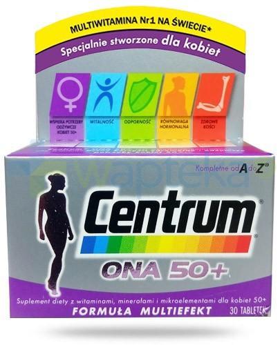 Centrum Ona 50+ witaminy i minerały dla kobiet 30 tabletek