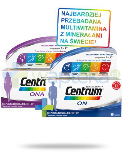 Centrum Ona i On Multiefekt witaminy i minerały dla kobiet i mężczyzn 2x 90 tabletek [UMF] [ZESTAW]