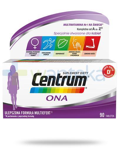 Centrum Ona Multiefekt witaminy i minerały dla kobiet 90 tabletek [UMF]