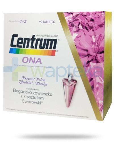 Centrum Ona witaminy i minerały dla kobiet 90 tabletek + zawieszka z kryształem Swarovski