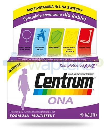 Centrum Ona witaminy i minerały dla kobiet 90 tabletek