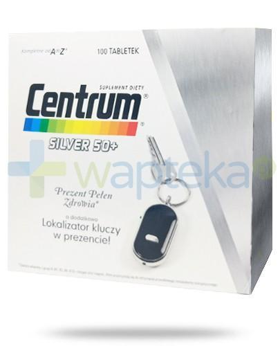 Centrum Silver 50+ zestaw witamin i minerałów 100 tabletek + lokalizator kluczy 1 sztuka