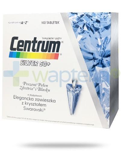 Centrum Silver 50+ zestaw witamin i minerałów 100 tabletek + zawieszka z kryształem Swarovski