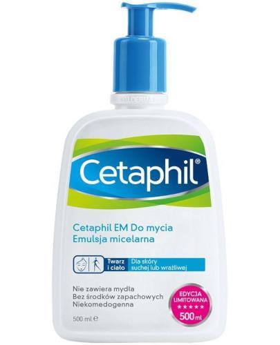 Cetaphil EM emulsja micelarna do mycia z pompką 500 ml [Data ważności 31-08-2018]