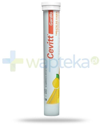 Cevitt Gardło z witaminą C i cynkiem smak cytrynowy 20 tabletek