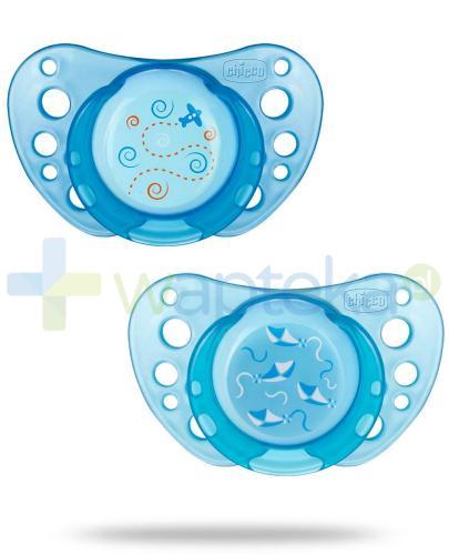 Chicco smoczek Physio Air silikonowy niebieski 0m+ 2 sztuki