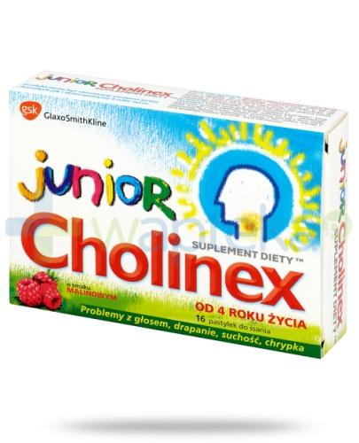 Cholinex Junior x 16 pastylek do ssania na ból gardła