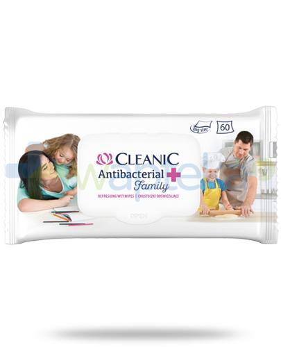 Cleanic Antibacterial Family chusteczki odświeżające 60 sztuk