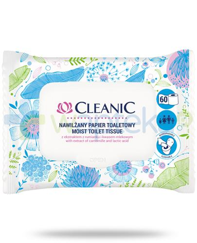 Cleanic nawilżany papier toaletowy 60 sztuk
