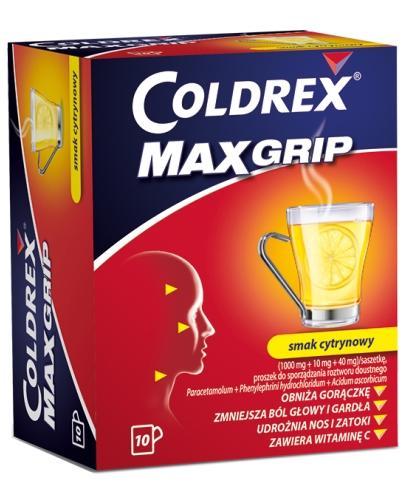 Coldrex MaxGrip o smaku cytrynowym 10 saszetek