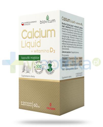Colfarm Biovitum Calcium Liquid + witamina D3 120 kapsułek miękkich
