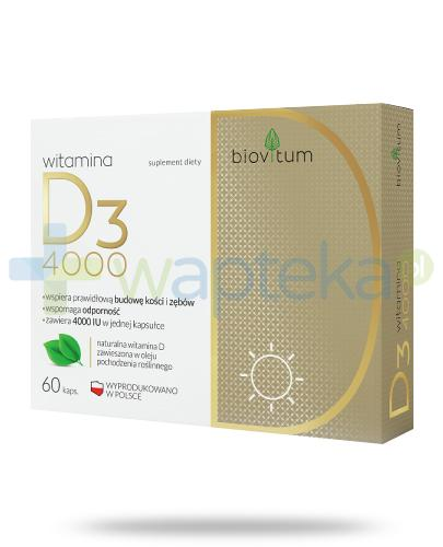 Colfarm Biovitum witamina D3 4000 60 kapsułek