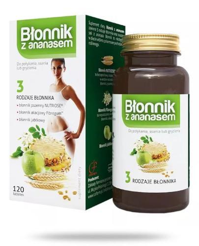 Colfarm Błonnik z ananasem 120 tabletek