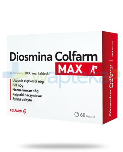 Colfarm Diosmina Max, Diosminum 1000mg, 60 tabletek