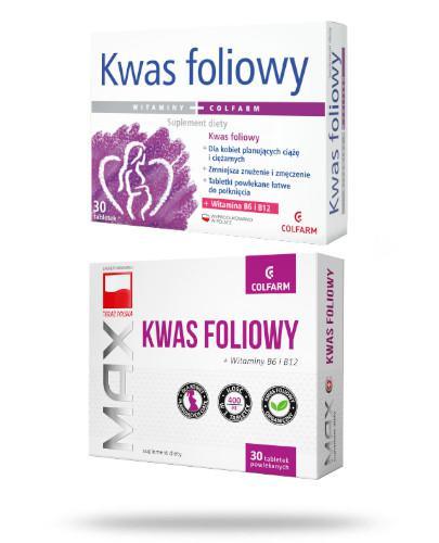 Colfarm Kwas foliowy 30 tabletek