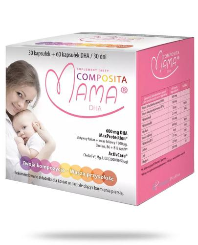 Composita Mama DHA 30 kapsułek + 60 kapsułek DHA 30 dni