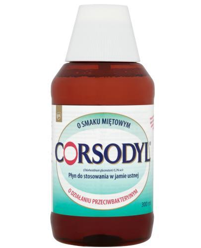 Corsodyl 0,2% Płyn do stosowania w jamie ustnej o smaku miętowym 300 ml