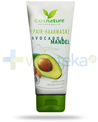 Avocado & Mandel naturalna maska regenerująca do włosów z awokado i migdałami 100 ml CosNature