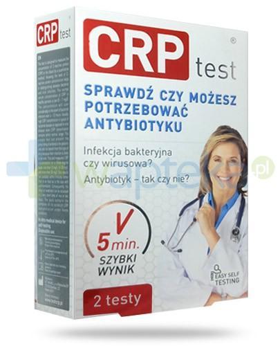 CRP test do odróżnienia zakażeń bakteryjnych i wirusowych 2 sztuki