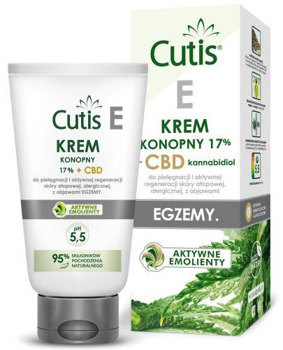 Cutis E krem konopny 17% + CBD do pielęgnacji i aktywnej regeneracji skóry atopowej, alergicznej z objawami egzemy 120 ml
