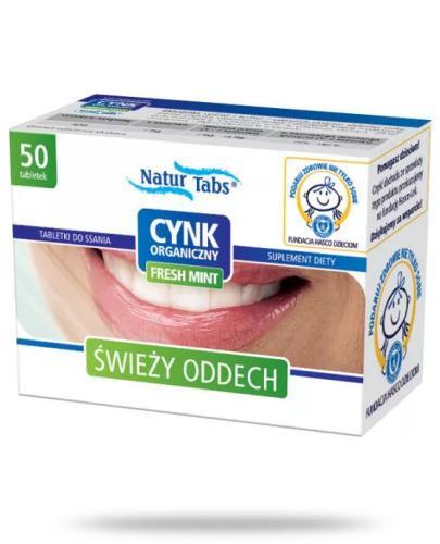 Cynk organiczny Naturtabs Fresh Mint 50 tabletek