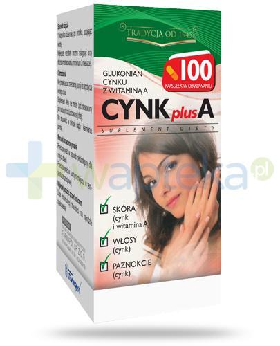 Cynk Plus A 100 kapsułki twarde