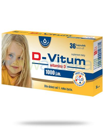 D-Vitum 1000j.m. witamina D dla dzieci 1+ 36 kapsułek